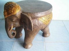 elephant side table. I want one badly