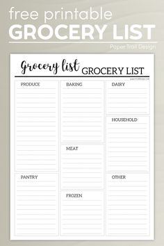Meal Planner Template, Meal Planner Printable, Weekly Meal Planner, Printables, Free Printable, Printable Shopping List, Shopping List Grocery, Grocery Store, Freezer Recipes