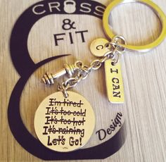 Let Go! Keychain Dumbbell, Initial letter y Motivation word llavero Fitness,Crossfit,Gym,Kettlebell,Weightlifting,Motovacion,Inicial,Coach de CrosseFitDesign en Etsy