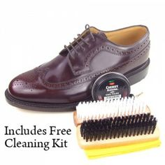 Loake Royal Oxblood Brogues - Now includes free cleaning kit when purchased through www.modshoes.co.uk