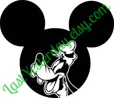 Goofy Mickey Head DIGITAL DOWNLOAD svg jpg png by LastYesterday on Etsy