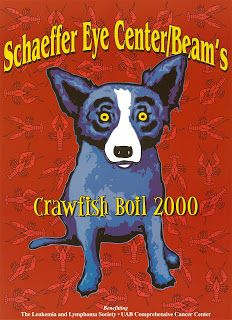 """Crawfish Boil"" 2000  Last festival poster commission-based series  