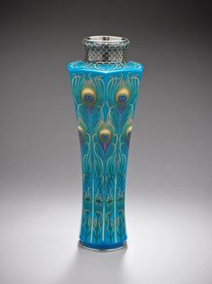 Kawade Shibataro ,Vase with design of Peacock Feathers ,c1905~ ♛