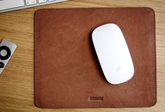 Leather Mousepad by HANDWERS