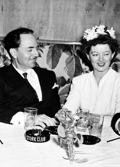 William Powell and Myrna Loy at The Stork Club, 1942