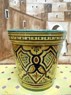 Moroccan Flower Pot Handmade Ceramic Terracota Pot Planter Plant Free Shipping | eBay