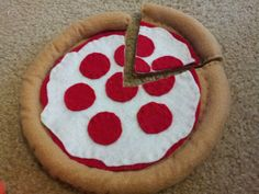 Felt Play Food - pizza