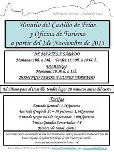 Horario Noviembre 2013. Frias