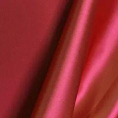 Otomán Satén de Triacetato Rojo
