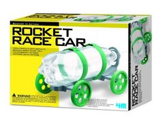 4M Rocket Race Car Kit by 4M. $15.85. From the Manufacturer                Construct a race car that employs the principles of the rocket with our 4M Rocket Race Car Kit. Powered by water and air pressure. You supply the plastic bottle; all other necessary parts and instructions are included.                                    Product Description                Science in action ! Construct a racing car that employs the principle of the rocket with this awesome Rocket Rac...