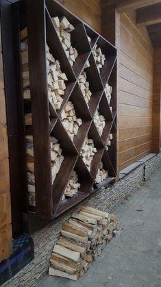 44 Simple Indoor Firewood Storage Design Ideas On A Budget Outdoor Firewood Rack, Firewood Holder, Firewood Storage, Wood Shed, Backyard Landscaping, Garden Design, Diy Home Decor, Home And Garden, Outdoor Decor