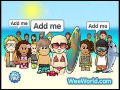 Games Friends Fun Free in WeeWorld :Create a WeeMee avatar and have fun with her in WeeWorld!
