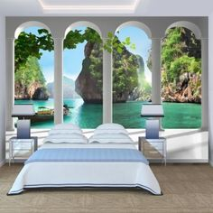 Wallpaper 300x210 cm - Non-woven - Murals - Wall - Mural - Photo - 3D - modern - nature landscape 10110903-13