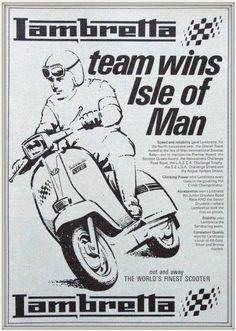 Publicité Lambretta d'époque...