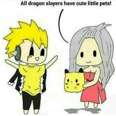 """I have a pikachu"" says laxus sooo cute!!!!"