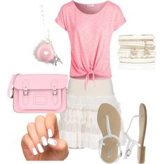 """Pink Modest summer outfit"" by violinista-jeh on Polyvore"