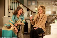 Lily Tomlin and Jane Fonda. The actresses play divorcees whose husbands come out and marry each other in Grace And Frankie
