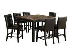 Furniture of America Belleterre 7Piece Counter Height Table Set with Faux Marble Top Black Finish * You can find out more details at the link of the image.Note:It is affiliate link to Amazon.
