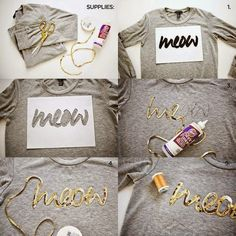 T-Shirt mit Pailletten-Schriftzug versehen. DIY T-Shirt mit Lettering T-shirt with sequin lettering. DIY T-Shirt with Lettering Diy Pullover, Diy Sweatshirt, T Shirt Diy, Make Your Own Sweatshirt, Halloween Sweatshirt, Do It Yourself Mode, Do It Yourself Fashion, Sewing Projects, Diy Projects