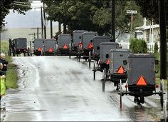 Amish funeral procession