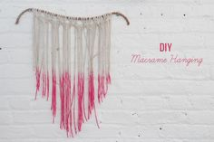 From a wedding website but I just wanna make this for my house. Macrame how-to!