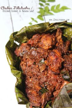 Chicken Pollichathu / Chicken Cooked in Banana Leaf - Recipe Book even without putting in banana leaf it turned out super tasty Fried Fish Recipes, Veg Recipes, Curry Recipes, Salmon Recipes, Indian Food Recipes, Cooking Recipes, Light Recipes, Recipies, Kerala Chicken Recipes