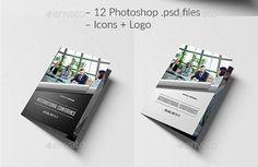 Elegant Conference Brochure Template PSDEPSAiIndesign - Conference brochure template