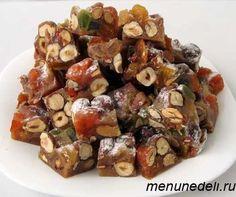Новогодние конфеты панфорте из орехов и цукатов