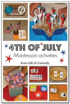 of July Montessori activities and trays for celebrating Independence Day in our homeschool preschool. Independence Day Theme, Independence Day Activities, American Independence, American Flag, Kids Learning Activities, Montessori Activities, Preschool Activities, Dinosaur Activities, Maria Montessori