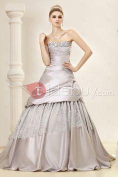 Estilo Princesa sin Tirantes Vestido de Boda con Pliegues Dasha's $214.99 Vestidos de Boda de Color
