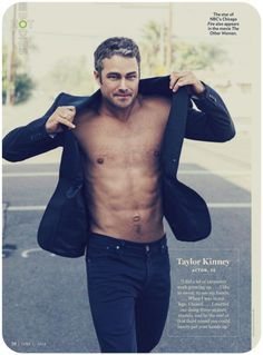 Taylor Kinney is hot, hot, hot — and not only because he plays a supersexy firefighter on TV. The Chicago Fire actor smolders both on screen and off, and Taylor Kinney Shirtless, Lady Gaga, Taylor Kinney Chicago Fire, Chicago Med, Lancaster, Hommes Sexy, Raining Men, Shirtless Men, Famous Men