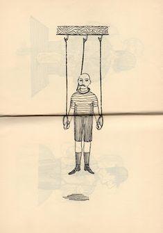 Les Rétro-Galeries de Mr Gutsy: Roland Topor - Les Masochistes - 1960