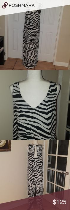 8fe4d927c727f Trina Turk Macee Zebra Print Maxi Dress Mint condition, never worn, black  and white