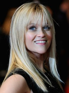 Reese Witherspoon  We too are all smiles when it comes to America's blonde-haired, blue-eyed sweetheart's simple 'do.