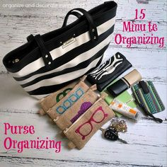 31 Days of 15-Minute Organizing: Day 19 - Purse Organizing, by Organize and Decorate Everything