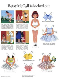 Betsy McCall Paper Dolls 1953 May-Aug