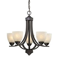 Bronze Chandelier with Alabaster Glass Shades * Read more reviews of the product by visiting the link on the image. (Note:Amazon affiliate link)