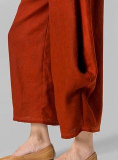 MISSY Clothing - Linen Flared Leg Crop Pants