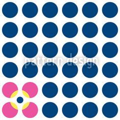 Floral Dots - Blue and pink dots, which symbolise flowers.