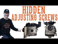 Hidden Adjusting Screws On Some Trimmers And Blowers - Video Engine Repair, Engine Rebuild, Garage Tools, Car Tools, Chainsaw Repair, Carburetor Adjustment, Lawn Mower Repair, Kohler Engines, Garage Repair