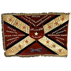 1st & 3rd Florida Infantry (Combined). The unit carried this unique adaptation of the Army of Tennessee pattern battle flag after September 1864. From the Museum of the Confederacy Flag Collection.