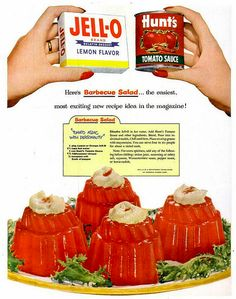 Barbeque Jell-O Salad... With mayonnaise bonus!