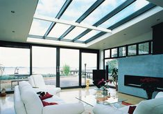 Create a light living space with these aluminium roof windows