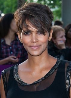 Cool Stylish Short Pixie Cut with Long Side Swept Fringes