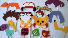 Accessoires photobooth x17 pokemon pikachu ...