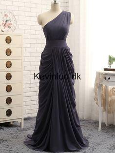 de5d04213637 En-Skulder A-linje Chiffon Lange Gallakjoler Trendy Outfits