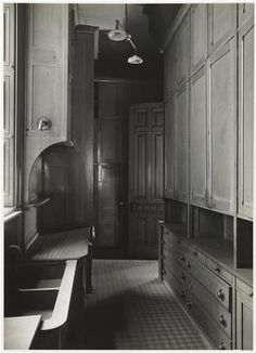 The home of the late John D. Rockefeller, No. 4 West 54th Street. Pantry. 1937. Museum of the City of New York