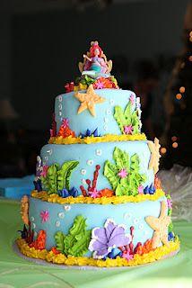 Little Mermaid cake..