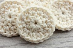 100% Cotton Face Rounds  10 Small Reusable Rounds by TheGreenDaisy