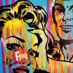 urban street art painting canvas superheroes - Google Search